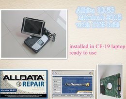 Wholesale Latest all data V10 alldata auto repair software mitchell ondemand in TB HDD Installed Well in CF Laptop ready to work