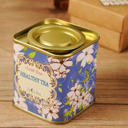 Wholesale Tinplate Tea Tin Sugar Storage Bins Coffee Beans Jar Container Gift Candy Sealed Cans Box Metal Home Decoration