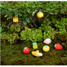 Wholesale 500pcs Garden Ornament Miniature Figurine Fruit Apple Banana Strawberry Handmade DIY Resin Craft Micro Landscape Decoration ZA0706
