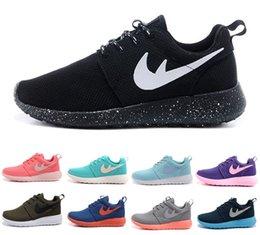 Discount Shoes Run Air Max Wholesale Women & Men Roshe Run Sports Running Casual Shoes Walking Sneakers Air Mesh London Olympic Max 90 Jogging Zapatos Size 36-46 Eur