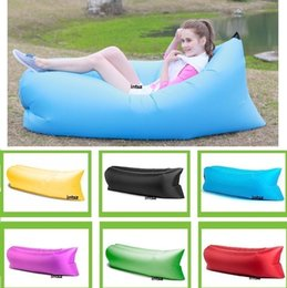 Wholesale Quick Fast Infaltable Hangout Down Sleeping Bag Sofa Bed Air Quick Open Lazy Sleep Bag Bed Hangout Sleeping Camping Sofa