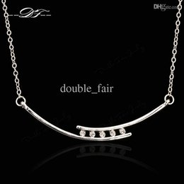 Elegant CZ Diamond Choker Necklaces & Pendants Platinum Plated Fashion Brand Jewelry For Women Chains Accessiories DFN040