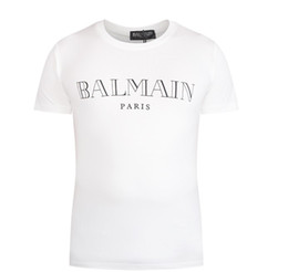 Wholesale 2016 hot sell women s Balmain cotton t shirt Balmain Logo Tee Fashion Mens short sleeve man balmain top for summer
