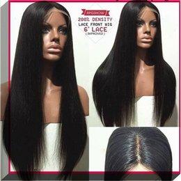 Freeshipping fashion 100% virgin Brazilian full lace human hair wigs human hair wigs long stright full lace front wigs