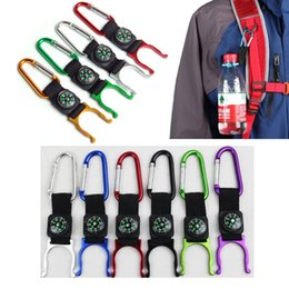 Compass Outdoors Camping Climbing Carabiner Water Bottle Buckle Hook Holder Clip For Camping Hiking Survival Traveling Tools