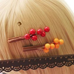 Wholesale Forest Department of literature and art of the small fresh retro day original handmade lovely red yellow berry hair