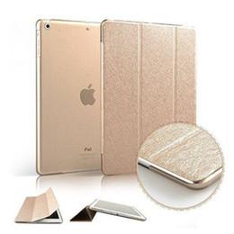 Promotion mélanger le cas de la mode Luxe Support étui en cuir pour iPad Mini 1 2 3 4 Mode soie Slim clair transparent intelligent sommeil réveil Comprimés Cover pour iPad Pro Air2 5 6