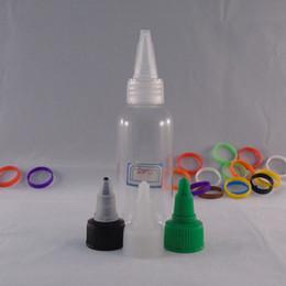 Top Quality E liquid 60ml Clear Pet Bottles Pen Shape Unicorn Bottle E juice Plastic Dropper Bottles with Twist Off Caps DHL Free