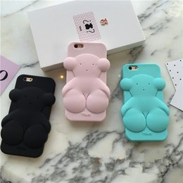 New hot Super cute 3D cartoon Luxury brand Bear soft Silicone phone case For iphone 6 6s 6plus 6s plus rubber covers