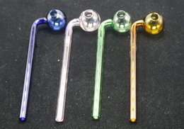In stock Curved Glass Oil burners Glass Pipes High quality smoking pipes with different colored glass balancer quick seller