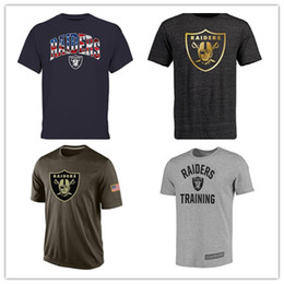 Wholesale Raiders T Shirts cheap rugby football jerseys Oakland Salute To Service Banner Wave Black Gold Collection Tshirts