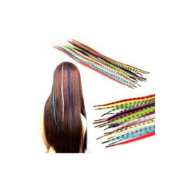 Wholesale Set Colors Grizzly Feather Hair Extensions Beads AE01086 beads teardrop beaded flip flop beaded flip flop