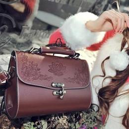 Vintage Brown Women PU Handbag European Lady Girls OL Simple Faux Leather Shoulder Bags Casual bags Purses Wallets