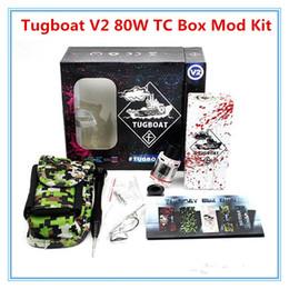 Wholesale Tugboat V2 W TC Box Mod Kit TUGLYFE Tugboat V2 ecig mods Variable Wattage Aluminum Body Dey Herba Vaporizer mechanical for battery