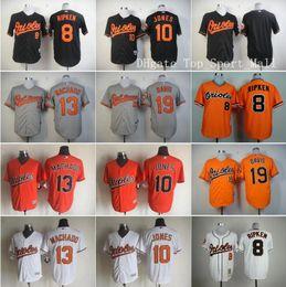 Wholesale Elite Baltimore Orioles Baseball Jerseys Cal Ripken Adam Jones Manny Machado Chris Davis Jim Palmer Home Black Orange White