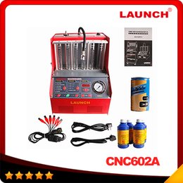 Wholesale 100 Origninal Launch CNC A CNC602A injector cleaner and tester With English Panel DHL