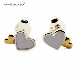 Luminous Hearts Stud Earrings With 14K Gold Plated European Style Earrings Studs Fashion Jewelry wholesale Free Shipping Flower Earrings