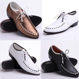 2014 black and white leather shoes wedding show groom wedding