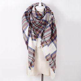 Купить Онлайн Размеры одеяло-Совершенно новый женщина Акриловый плед теплая зима шарф шали Плюс размер Одеяло шарф для женщин