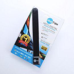 HOT Clear Tv key HDTV digital indoor antenna sleek slim design hidden behind TV,Get broadcast tv for free 72pcs