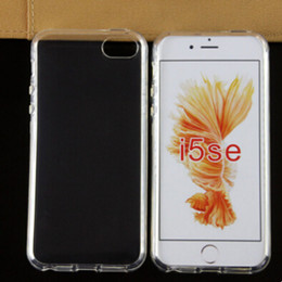 Wholesale Best Quality Transparent TPU Case For iPhone SE S iPhone inch iPhone6 Plus inch New Clear Soft Skin Back Cover S0001