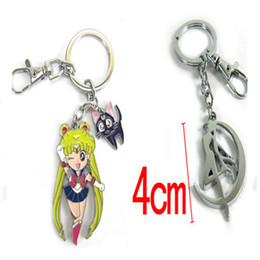 Japan Anime Sailor Moon Girl Pendant Keychain Zinc Alloy Metal Key Chain Keyring Key Ring For Men Women Christmas Gift M115