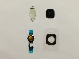 Wholesale 200pcs in Home Button with Flex Cable Rubber Gasket Holder Buckle Sheet for iPhone G by DHL EMS