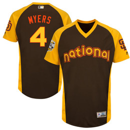 Wholesale Mens San Diego Padres Wil Myers Majestic Brown Baseball All Star Game Cool Base Batting Practice Player Jersey