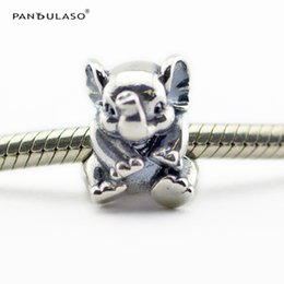 Lucky Elephant Charm Beads Sterling-Silver-jewelry Beads Fits Pandora Bracelets Charms DIY Woman Bracelets Beads Wholesale Jewelry 2016 New