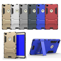 For Huawei P8 Case Rugged Combo Hybrid Armor Bracket Impact Holster Protective Cover Case For Huawei Ascend P8