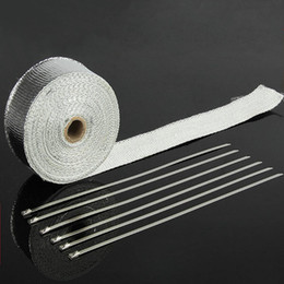 Wholesale Aluminium Foil Fiberglass Exhaust Header Heat Wrap quot x Roll With Pieces Of Stainless Ties Kit