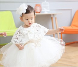 retail 2pcs set Newborn High Quality 2016 baby Baptism Dress Christening Gown Girls' party Infant Princess wedding dress