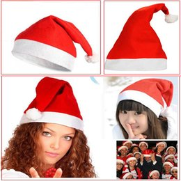 Wholesale Popular Christmas Decoration hats Santa s hat Best Price Christmas hat Santa Claus Hat Lovely Adults Children Christmas Cosplay Hats