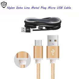 Wholesale For NOTE USB Type C USB C FT M Long Strong Fabric Nylon Braided Micro USB Charging Cable Line For Smart Wire With Metal Head Plug