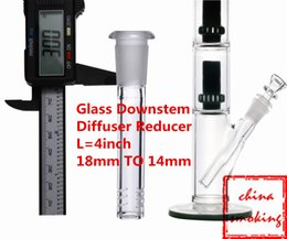 Wholesale Glass G O G Downstem Diffuser Reducer inch MM TO MM Diffuser Glass Downstem for Glass Pipes With Cuts
