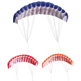 Wholesale Dual Line Stunt Parafoil Parachute Kite With Flying Tools Braid Sailing Kitesurf Rainbow Outdoor Water Sports Beach Kite
