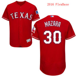 Wholesale 2016 Flexbase Texas Rangers Nomar Mazara Red White Navy Blue Cheap Men MLB Baseball Jerseys Top Quality Outlets Store