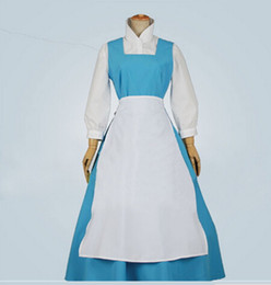 Wholesale Blue Belle Princess dress cosplay costume from beauty and the beast custom dress cosplay costume
