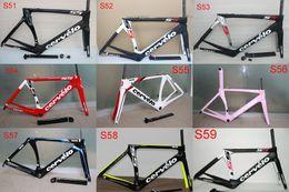 Wholesale 2016 newest Carbon Road Bike Frame glossy matt full carbon fiber bike frame BB79 with fork seatpost headset clamp