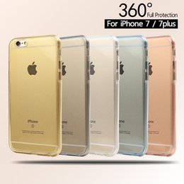 Soft TPU Transparent 360 Full Body Protective Case Front Touch Screen Back Cover Case For iphone 5s 6s 6 Plus 7 Plus Fundas Capa