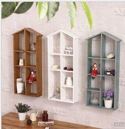 Wholesale 30 CM Wooden Home Products Sundries Storage Organizer Retro Storage Holders Display Rack Sundries Medicine Fleshy Flower Shelf