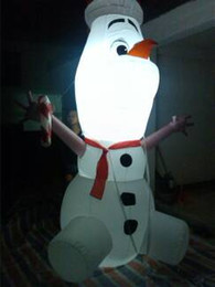 Wholesale free air blower professional inflatable company wonderful inflatable character inflatable snowman for sale with colorful ligghting