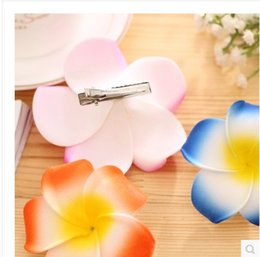 artificial foam plumeria flowers bride bohemian plumeria flower hair clips accessories beach hair clips wedding party decorations