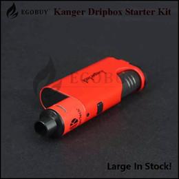 Authentic Kanger Dripbox Starter Kit 60W with KangerTech Subdrip Tank 7ml Dripmod 18650 Box Mods 100% genuine topbox nano one starter kit
