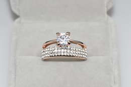 Wholesale 2016 the least news Rings gold plated anillos wedding rings Austrian crystal Environmental Micro Inserted Jewelry R150290250R