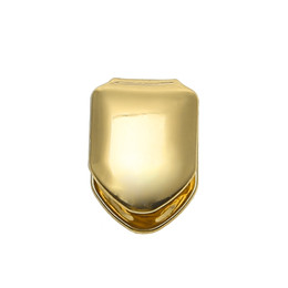 14K Gold Plated Single Tooth FANG Grill Cap Canine Teeth for Man Hip Hop Custom GRILLZ