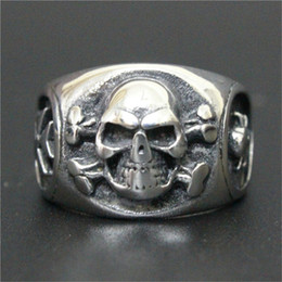 3pcs lot New Design Silver Ghost Skull Ring 316L Stainless Steel Fashion jewelry Band Party Skull Ring