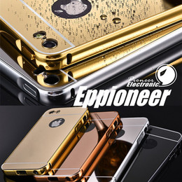 Wholesale Eppioneer For iphone s s7 Mirror aluminum bumper case For IPHONE SAMSUNG LG HUAWEI XIAOMI SONY