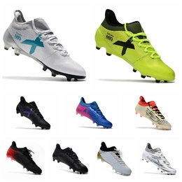 2017 Mens original soccer cleats x 17.1 outdoor soccer shoes X 16.1 FG AG football boots cheap messi cleats X 16 soccer boots Blue grey
