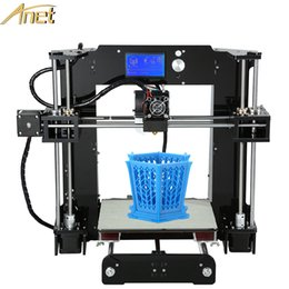 Wholesale Easy assembly Anet A6 d printer diy Precision Reprap Prus i3 D Printer Kit DIY With M Filaments16GB SD Card Hotbed As Gift